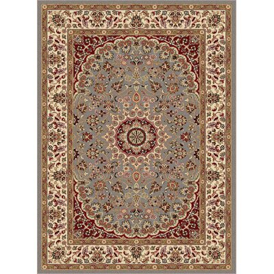 Langlee Blue/Red Area Rug Rug Size: 5 x 7
