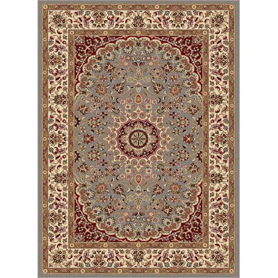 Langlee Blue/Red Area Rug Rug Size: 93 x 126