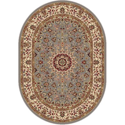 Langlee Blue/Red Area Rug Rug Size: Oval 53 x 73