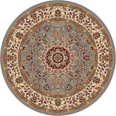 Langlee Blue/Red Area Rug Rug Size: Round 53