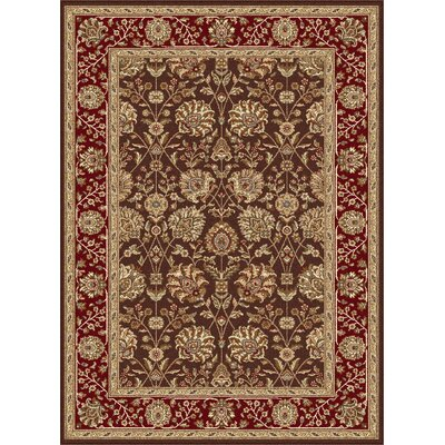 Langlee Brown/Red Area Rug Rug Size: Rectangle 93 x 125