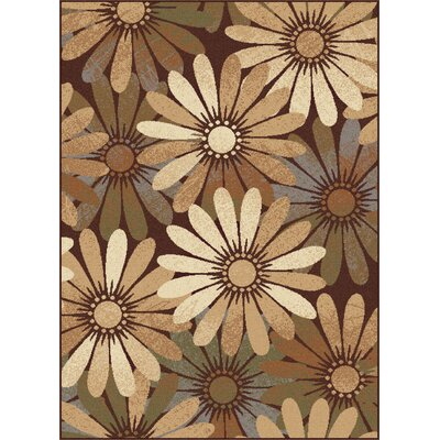 Colette Floral Tan Area Rug Rug Size: Rectangle 93 x 125