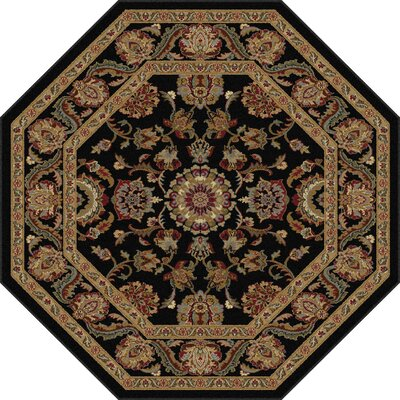 Richmond Black/Gold Area Rug Rug Size: Octagon 710