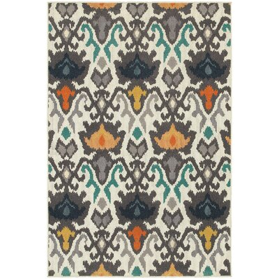 Brookline Ivory Indoor Area Rug Rug Size: Rectangle 53 x 76