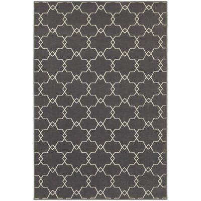 Brookline Grey/Ivory Indoor/Outdoor Area Rug Rug Size: Rectangle 53 x 76
