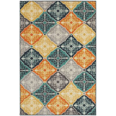 Brookline Blue Indoor/Outdoor Area Rug Rug Size: 53 x 76