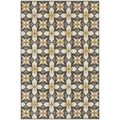 Brookline Grey/Gold Indoor/Outdoor Area Rug Rug Size: 67 x 96