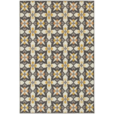 Brookline Grey/Gold Indoor/Outdoor Area Rug Rug Size: 910 x 1210
