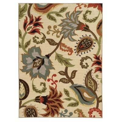 Brickhill Ivory Area Rug Rug Size: Rectangle 22 x 39