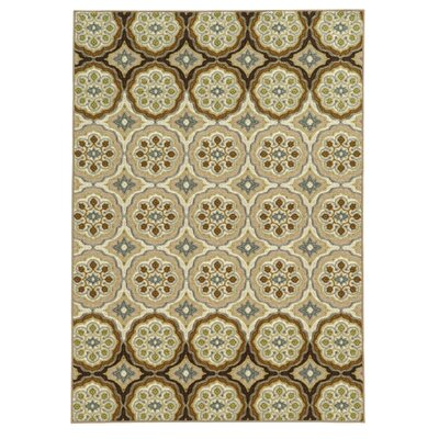 Roger Ivory/Tan Area Rug Rug Size: Rectangle 53 x 73