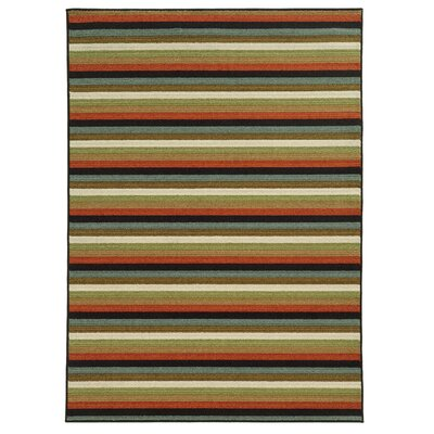 Roger Rust/Brown Area Rug Rug Size: 53 x 73