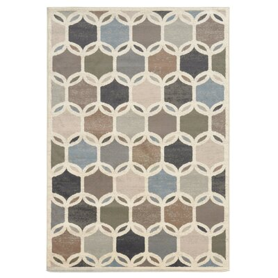 Thomasin Ivory Area Rug Rug Size: Rectangle 110 x 210