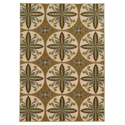 Roger Tan/Ivory Area Rug Rug Size: Rectangle 67 x 93