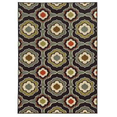 Roger Black/Grey Area Rug Rug Size: Rectangle 22 x 39