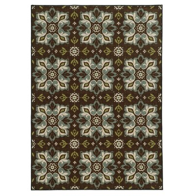 Roger Brown/Blue Area Rug Rug Size: 67 x 93