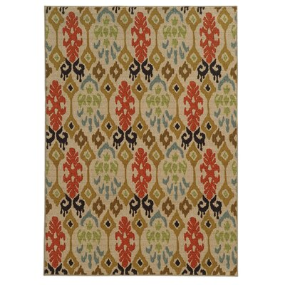 Clarissa Beige Area Rug Rug Size: Rectangle 53 x 73