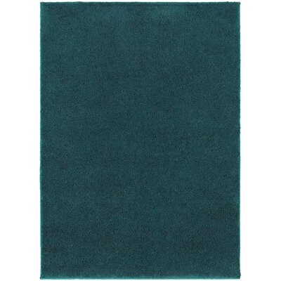 Hanson Teal Area Rug Rug Size: Rectangle 53 x 73