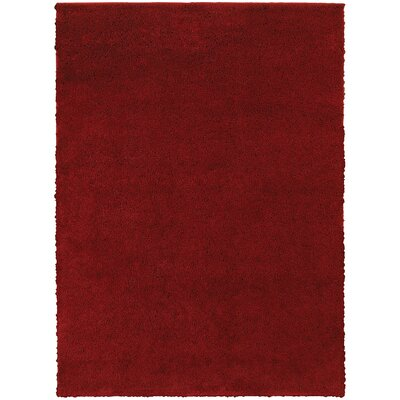 Hanson Red Area Rug Rug Size: Rectangle 53 x 73