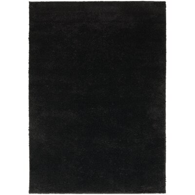 Hanson Black Area Rug Rug Size: 53 x 73