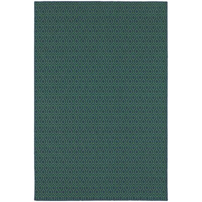 Kailani Trellis Navy/Green Indoor/Outdoor Area Rug Rug Size: Round 710