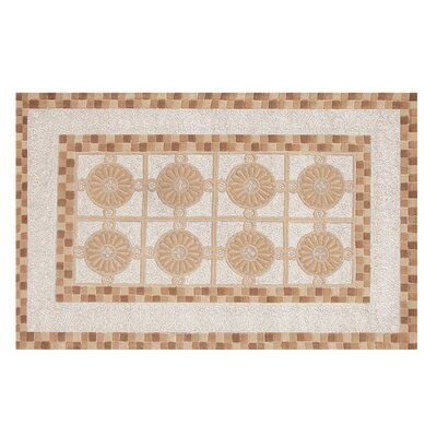Shiloh Hand-Tufted Brown/Ivory Area Rug Rug Size: 5 x 8