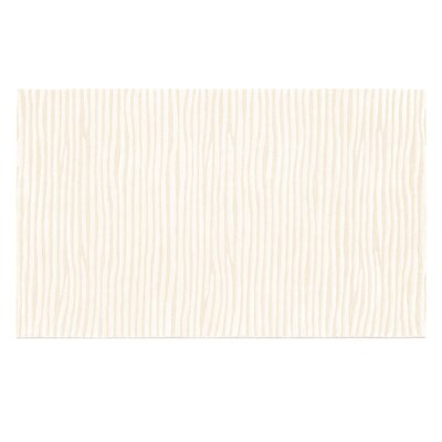 Fulton Hand-Tufted White Area Rug Rug Size: 5 x 8