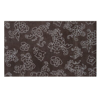 Hebron Hand-Tufted Brown Area Rug Rug Size: 5 x 8