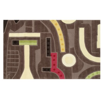 Ripley Hand-Tufted Brown Area Rug Rug Size: Rectangle 5 x 8