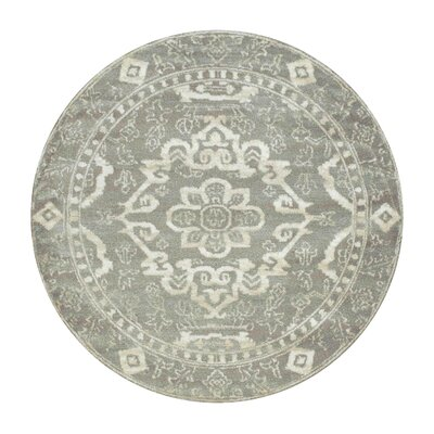 Avery Gray Area Rug Rug Size: Round 53