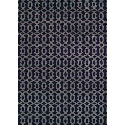Durham Navy Area Rug Rug Size: 53 x 73