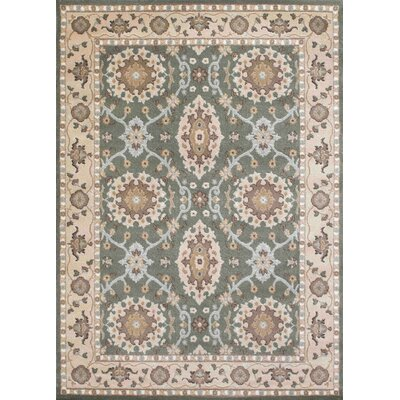 Avery Light Green Area Rug Rug Size: 53 x 73