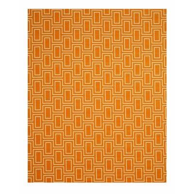 Allison Orange Area Rug Rug Size: 53 x 73
