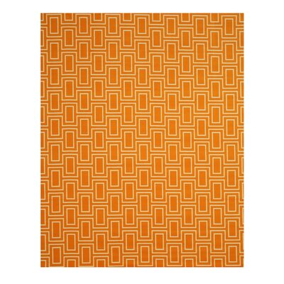 Allison Orange Area Rug Rug Size: 710 x 910
