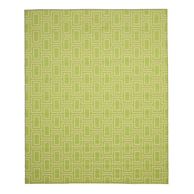 Allison Green Area Rug Rug Size: 53 x 73