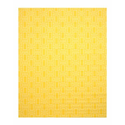 Allison Yellow Area Rug Rug Size: 53 x 73