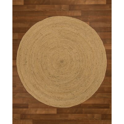 Middlebury Hand-Woven Beige Area Rug Rug Size: Round 6