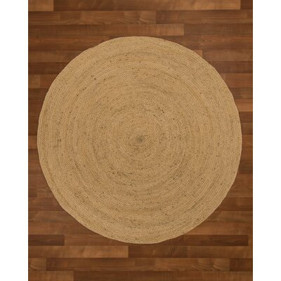 Middlebury Hand-Woven Beige Area Rug Rug Size: Round 10