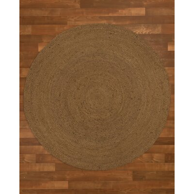 Wellesley Hand-Woven Brown Area Rug Rug Size: Round 5