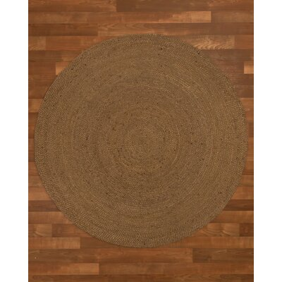 Wellesley Hand-Woven Brown Area Rug Rug Size: Round 8