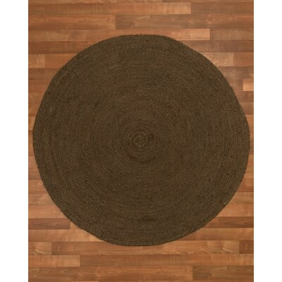 Rosanna Hand-Woven Chocolate Area Rug Rug Size: Round 10