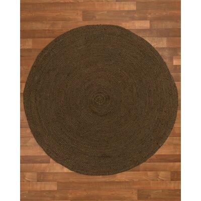 Rosanna Hand-Woven Chocolate Area Rug Rug Size: Round 5