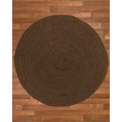 Rosanna Hand-Woven Chocolate Area Rug Rug Size: Round 6