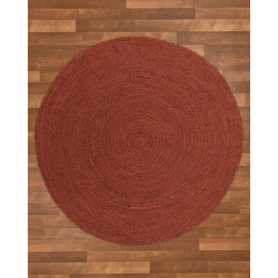 Bishop Hand-Woven Red Area Rug Rug Size: Round 5'