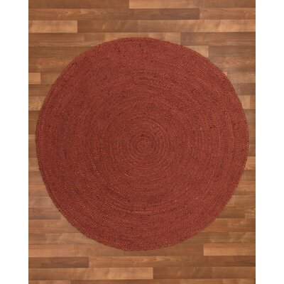 Bishop Hand-Woven Red Area Rug Rug Size: Round 10'