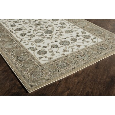 Sheldon Ivory/Tan Area Rug Rug Size: Runner 2'2