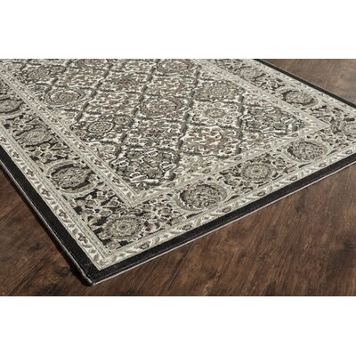 Sheldon Black Area Rug Rug Size: Runner 22 x 8