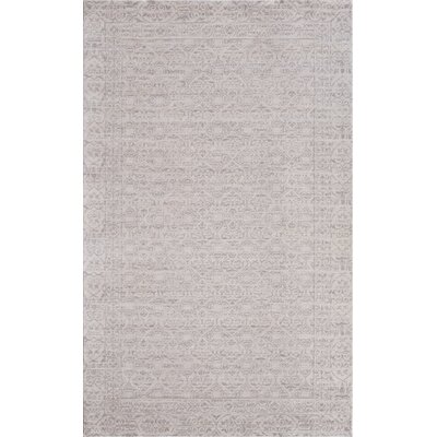 Ivory/Gray Area Rug Rug Size: 2' x 3'