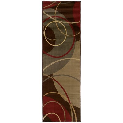 Garmon Brown/Red Area Rug Rug Size: Runner 26 x 79