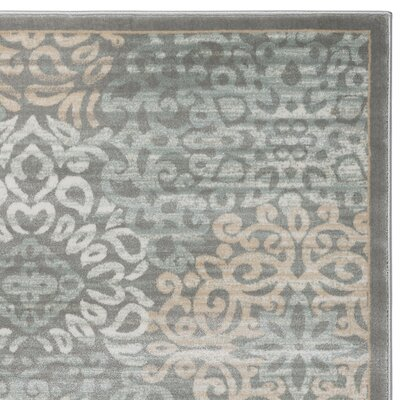 Ackermanville Gray Area Rug Rug Size: Rectangle 53 x 73