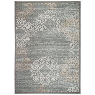 Ackermanville Gray Area Rug Rug Size: 53 x 73